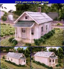 "N Scale - Shotgun House  ""Wood Laser-cut Building Kit""  BLN-079"