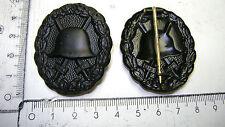 WK I- Verwundeten Abzeichen an Nadel Farbe schwarz