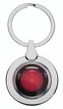 HAL 9000 2001 SPACE ODYSSEY CHROME METAL POLISHED SILVER COLOUR KEYRING
