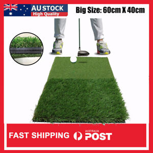 Golf Chipping Mat 2In1 60X40CM Hitting Pad Training Practice 40mm In/Outdoor AU