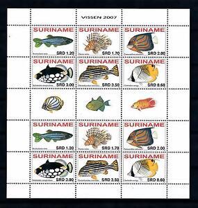[SUV1467] Surinam Suriname 2007 Fish Fisch Poisson Miniature Sheet with tab MNH