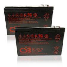 "New  CSB 12v 7.2Ah Sealed Lead Acid Battery GP1272 F2/0.25"" Terminals 2 Pack"