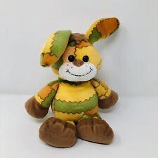 Gund THREADS Bunny Rabbit Plush Orange Green Patchwork Print Stuffed Animal Toy