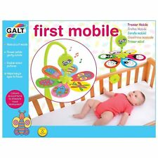 GALT TOY KIDS BABY COT FIRST MUSICAL ROTATING MOBILE WITH SOUND