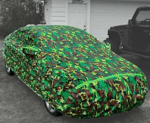 Camo Car Cover Waterproof Exterior Vehicle Multiple Layer Scratch-Proof Lining