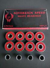 8 Pack Abec-9 Skateboard Bearings w Spacers, longboard/inline/hockey/r oller 8mm