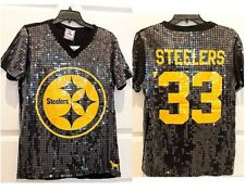 NWT Victoria's Secret Pittsburgh Steelers NFL Sequin Stretch Top XS/S 36/37 bust