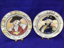 Royal Doulton The Mayor & The Admrial Cabinet Plates