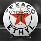 "TEXACO ETHYL 15"" Gas Pump Globe Face/ Lens - HEAVY STRENGTH GLASS! MADE IN USA!!"
