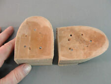"""STACKED LEATHER REPLACEMENT WESTERN COWBOY BOOT HEEL RUBBER CAP 1.5"""" SHOE REPAIR"""