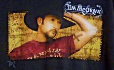Tim Mcgraw T-Shirt On Tour 2001 Black Short Sleeves Large Country