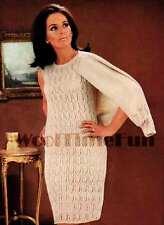 Knitting Pattern Lady's Sheath Dress & Matching Jacket.