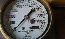 Marsh Instrument Company Pressure Gauge 0 1000 Psi Recalibrator New Old Stock