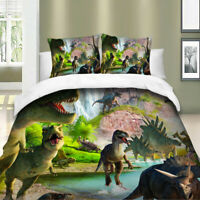 Dinosaur Duvet Cover Set For Comforter Twin/Queen/King Size Bedding Set Green US