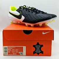 Nike Tiempo Legend 8 Pro FG Black/Volt Soccer Cleats (AT6133-007) Men's Size 9.5