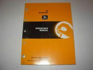 John Deere 80 Excavator Operator's Manual , OMT185687 E0