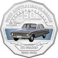 2017 Australia 50c Coloured Unc Coin- 1960 XK Falcon Deluxe Classic FORD Car
