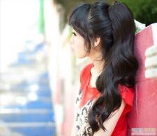 Christmas Gift Women Darkest Brown Clip in HAIR PIECE Ponytails Hair Extension