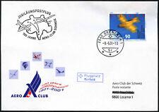 Svizzera 2001 COVER Aero Club di volo a Locarno #C43515
