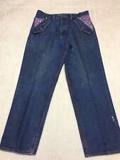 Coogi Mens Size Tag 36X34 Meas 36X32 Aztec Flap Pocket Jeans