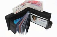 MENS LUXURY SOFT QUALITY LEATHER WALLET, CREDIT CARD HOLDER, PURSE BLACK 107