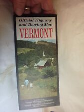 vintage state road and vacation guide- Highway commission-VERMONT 1962
