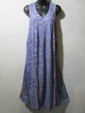 Dress Fits 1X 2X 3X Plus Sundress Purple Water Color Tie Dye A Shape NWT G325