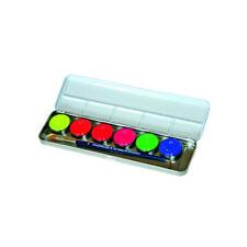 Neon Schminkpalette von Eulenspiegel mit 6 Neon-UV-Farben und Pinsel