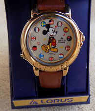 Vintage Lorus Quartz Mickey Mouse Musical Wrist Watch in Box - Model # V421-0020