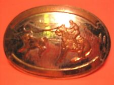 1978 Comstock Silversmiths Cowboy Calf Roper Trophy Rodeo Belt Buckle Make Offer