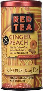Ginger Peach Red Tea by The Republic of Tea, 36 tea bags
