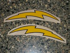 SAN DIEGO CHARGERS 1960s Yellow & Black Football Helmet Decals FULL Sz 3M 20MIL