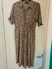 Maternity Shirt Dress. Size 12. New Look. Animal Print.