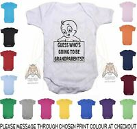 Baby Vest Guess Who's Going To Be Grandparents Funny pregnancy announcement