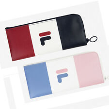 1x FILA Wonnie Friends Faux Leather Flat Pockets Pencil Case Pen Bag Organizer