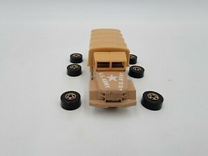 """Hot Wheels  - Troop Carrier Tan """"US Army"""" - #4921 - ©1983 - ISSUE - Rivets out!"""