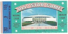 1968 MLB Baseball All Star Game Ticket STub Houston Astrodome