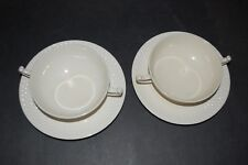 Copeland Spode Mansard ELAINE Handled Cream Soup Bowl and underplate Lot of two