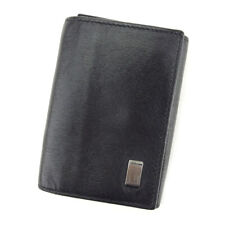 Dunhill Key Case Sidecar Black Silver Men's Auth T9660