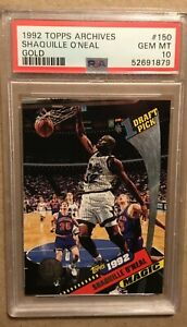 1992 Topps Archives Gold Shaquille O'Neal PSA 10 #150