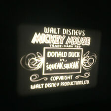 "Disney MICKEY MOUSE & DONALD DUCK 16mm Cartoon 40's b/w  7"" METAL Reel Can Pluto"