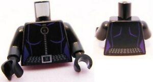 LEGO - Minifig Torso Female Outline, Ring Zipper Pull, Gray Belt Pattern - Black