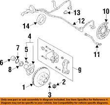 Infiniti NISSAN OEM 97-06 Q45 Rear Brake-Rotor 43206AG911