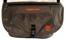 Timberland Mens Messenger Bag Tote Durable Water Resistant Outdoor Brown Orange