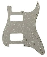 For Fender 4 Ply Double Fat HH Strat Humbucker Guitar Pickguard,White Pearl