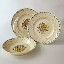More details for susie cooper printemps three piece place setting vintage 1930s pattern 2205