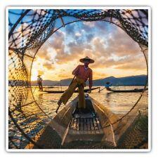 2 x Square Stickers 7.5 cm - Inle Lake Myanmar Burma Asia Cool Gift #3385