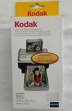 New Kodak PH-40 EasyShare Printer Dock Color Cartridge & Photo Paper Refill Kit