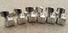 Set of 6 inline Standard Guitar Tuning Machine Head Peg Tuner For Strat Tele