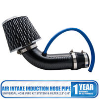 Universal Car Cold Air Intake Filter Aluminum Induction Kit Pipe System Black
